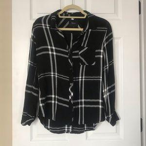 Rails black and white flannel